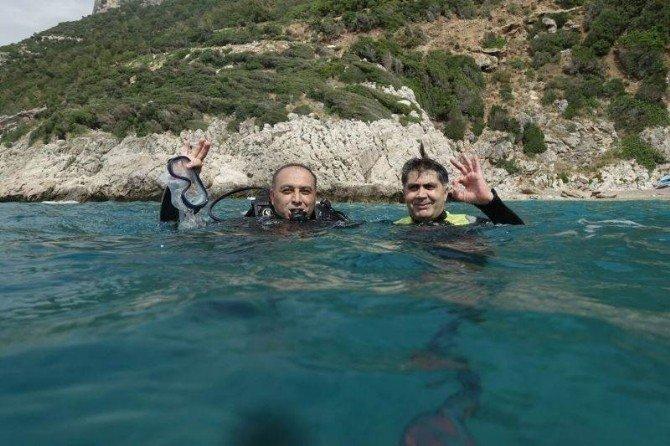 Kaymakam Keldağı Eteklerinde Keşif Dalışı Yaptı