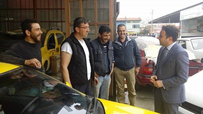 Milletvekili İshak Gazel, Sanayi Sitesi Esnaflarını Ziyaret Etti