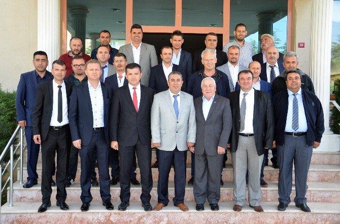 Öğrenci Servisleri Kooperatifi Başkanı Çalbaş'tan Şoförler Odası Başkanı Baş'a Ziyaret