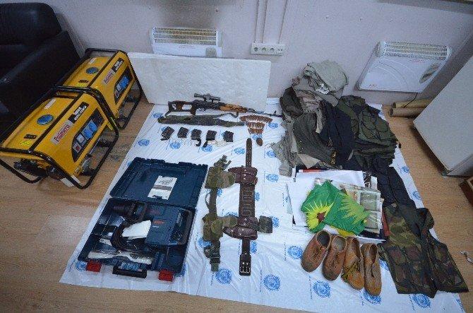 Van'da PKK'ya Ait Çok Sayıda Silah Ve Mühimmat Ele Geçirildi