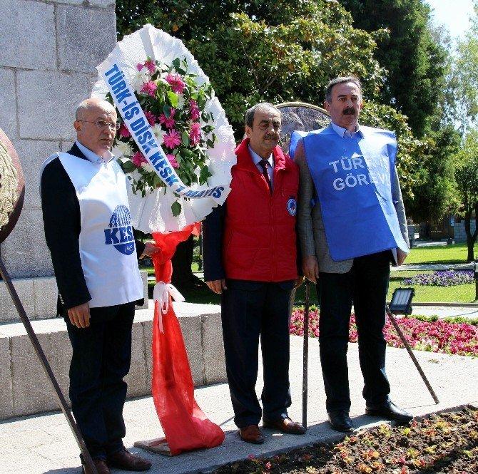 """Samsun'da """"1 Mayıs Emek Ve Dayanışma Günü"""" Törenleri Başladı"""