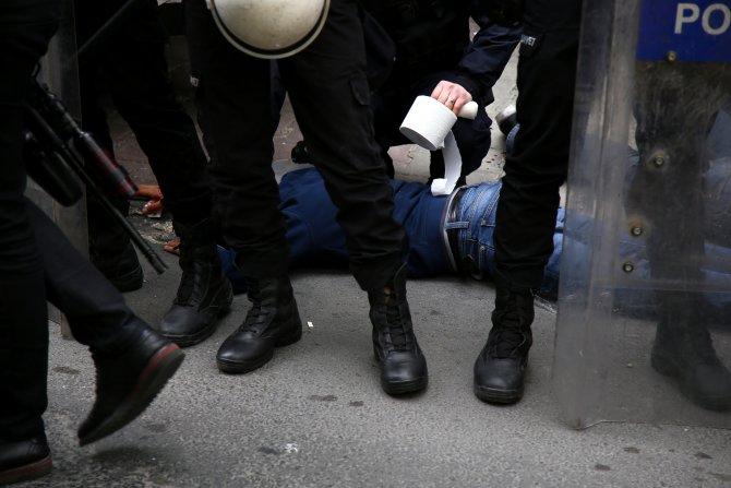 Taksim'e çıkmak isteyen 8 kişi gözaltına alındı