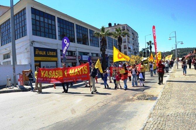 Ayvalık'ta Emek Güçlerinin 1 Mayıs Coşkusu