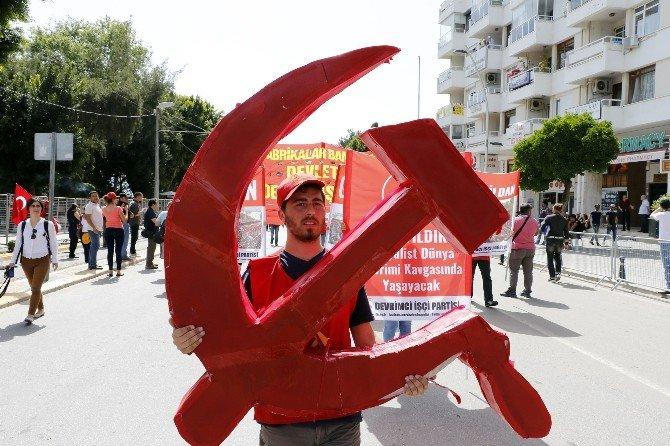 Antalya'da 1 Mayıs İçin 4 Kilometrelik Bariyerli Güvenlik Koridoru
