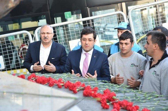 Taksim Meydanı'na İlk Gelen, Beşiktaş Belediye Başkanı Murat Hazinedar Oldu