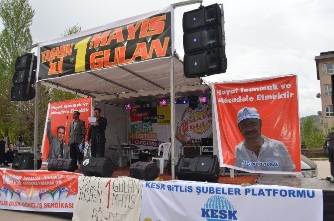 Bitlis'te 1 Mayıs Coşkusu
