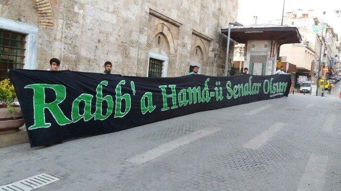 Bursalılar Teröre Karşı Ulu Cami'ye Akın Etti