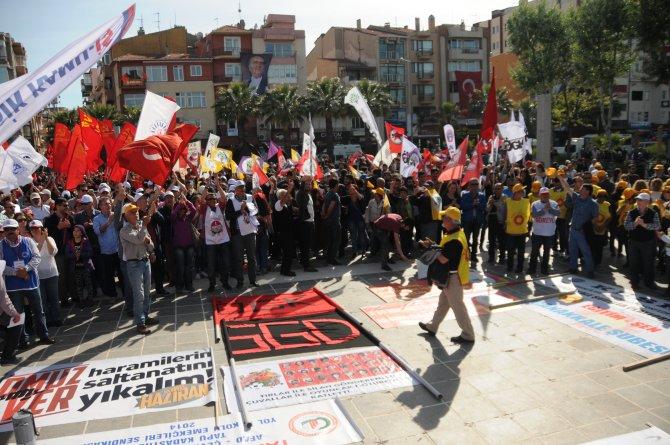 Çanakkale'de 1 Mayıs kutlaması coşkulu geçti