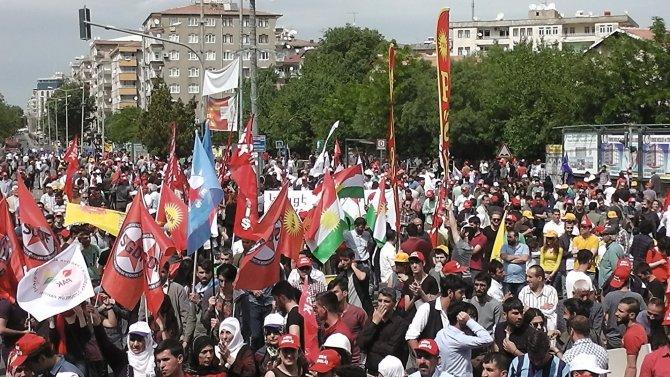 Diyarbakır'da 1 Mayıs'a katılım az oldu