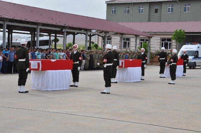 Nusaybin Şehitleri Genelkurmay Başkanı Akar'ın Katıldığı Törenle Memleketlerine Uğurlandı