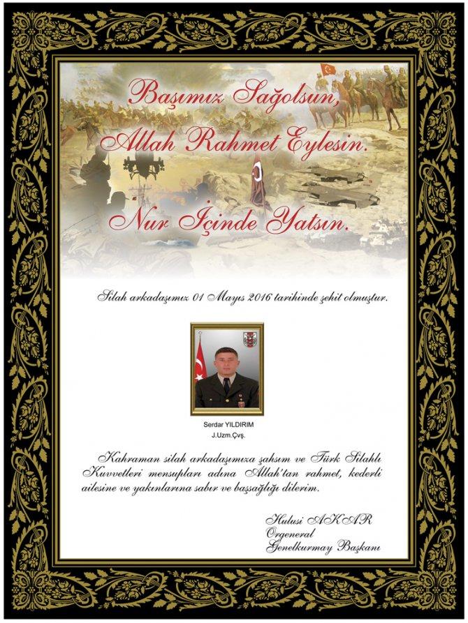 Genelkurmay, Nusaybin'de şehit olan 3 askerin isimlerini açıkladı