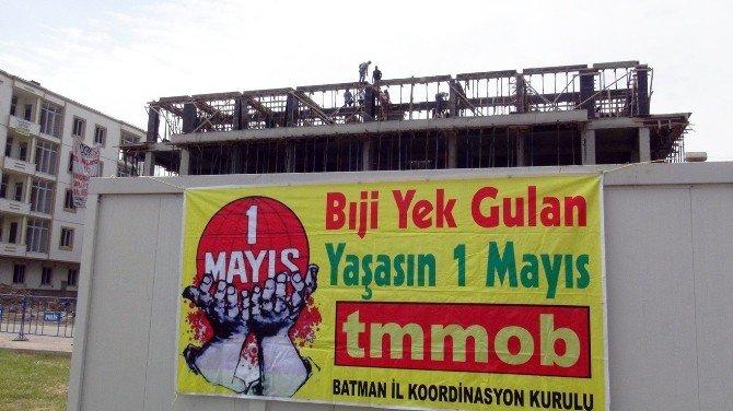 Batman'da İnşaat İşçileri 1 Mayıs'ı Çalışarak Geçirdi