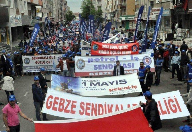 1 Mayıs Gebze'de Coşkuyla Kutlandı