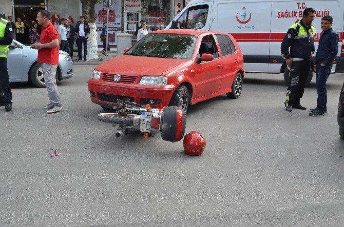 Malatya'da Otomobil İle Motosiklet Çarpıştı: 1 Yaralı