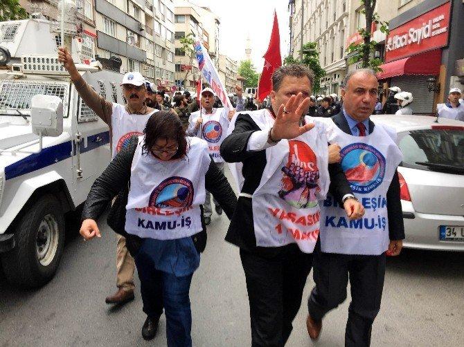 Şişli'de, Taksim'e Yürümek İsteyen Gruba Polis Müdahalesi
