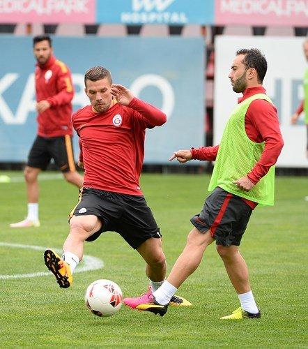 Galatasaray'da Çaykur Rizespor maçının hazırlıklarına devam edildi