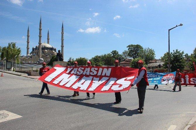 Edirne'de 1 Mayıs İşçi Bayramı Coşkuyla Kutlandı