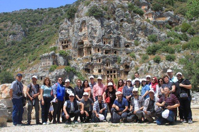 Antalyalı Gazetecilerden Bölge Turizmine Katkı