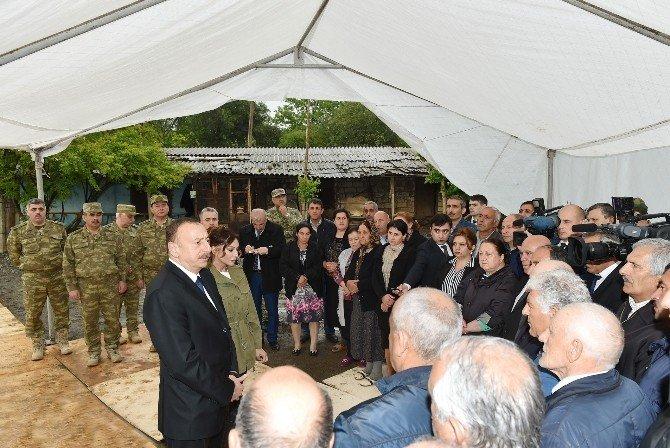 Aliyev, Azerbaycan-ermenistan Temas Hattını Ziyaret Etti