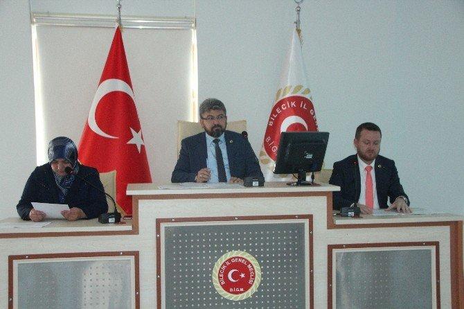 Bilecik'te İl Genel Meclisi Mayıs Ayı Birleşimi Yapıldı