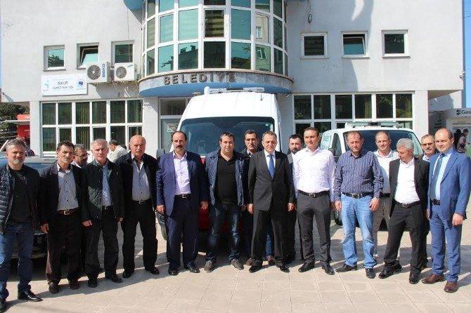 Hayırsever İşadamları Yomra Belediyesine Cenaze Yıkama Ve Taşıma Aracı Bağışladı