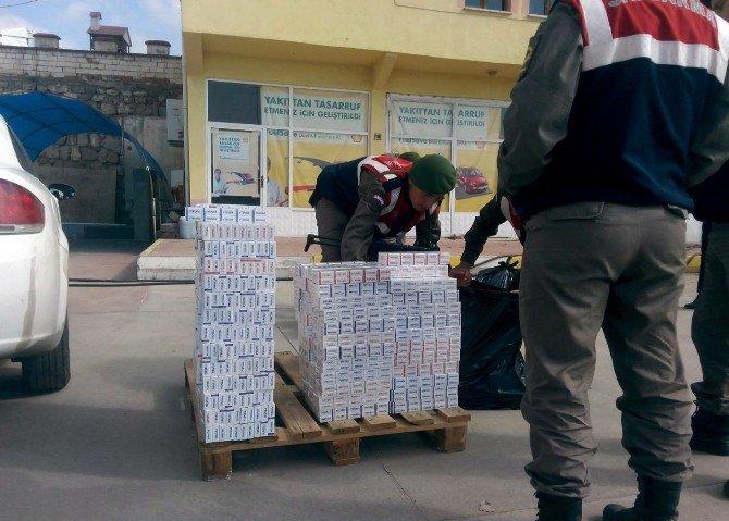 Tosya'da Jandarmadan Kaçak Sigara Operasyonu