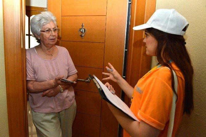 Konyaaltı'nda Ev Ve İşyerlerine Çevre Anlatıldı