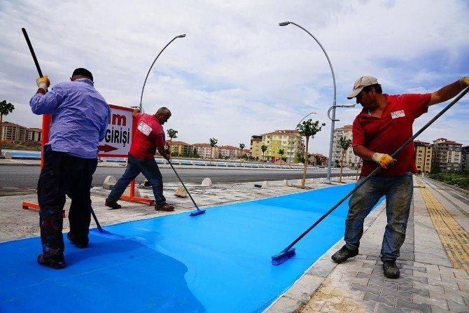 Fahri Kayahan Bulvarı'nda, Çalışmalar Sürüyor