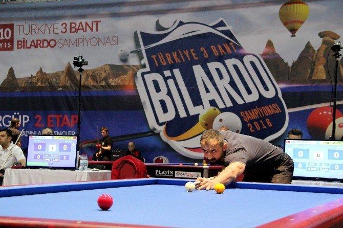 Türkiye 3 Bant Bilardo Şampiyonası İkici Etabı Ürgüp'te Başladı