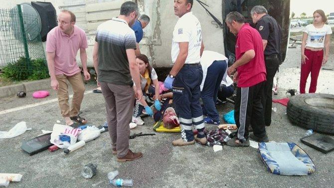 Giresun'da trafik kazası: 23 yaralı