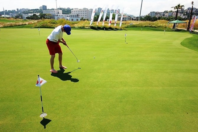 Samsun'da golf oynayanların sayısı artıyor
