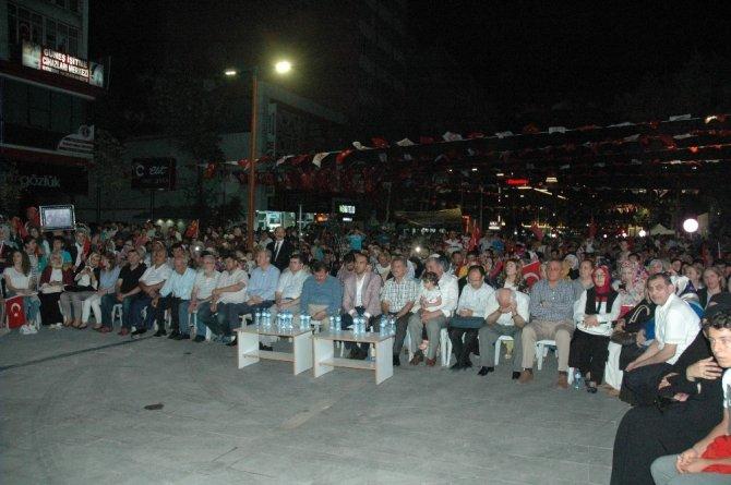 Kahramanmaraş'ta demokrasi nöbeti sona erdi