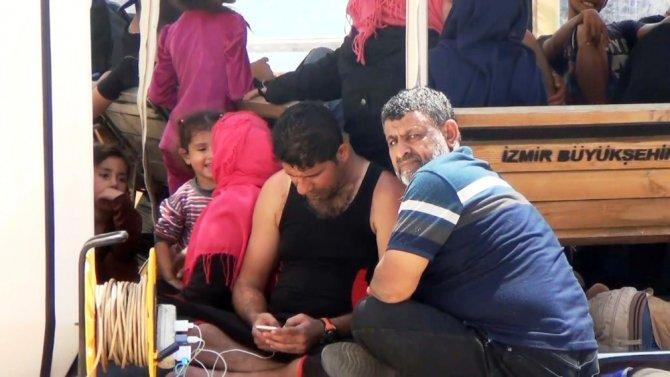 Ayvalık'ta 60 Suriyeli göçmenin umuda yolculuğu suya düştü