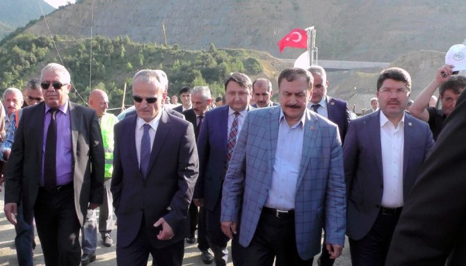 Bakan Eroğlu, 15 tesisin toplu açılış töreni için Bartın'da