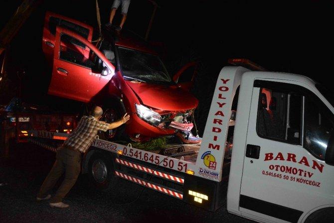 Köyceğiz'de otomobil kanala devrildi; 7 yaralı
