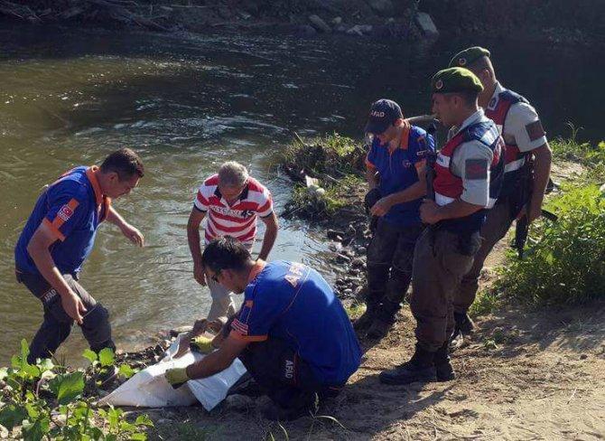 Yüzmek için çaya giren gencin cesedi bulundu