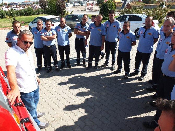 Büyükşehir'den Bandırma itfaiyesine 1,5 milyon TL'lik araç