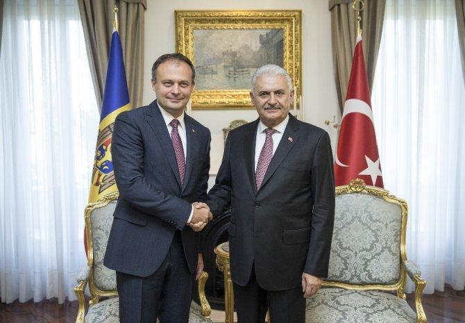 Başbakan Yıldırım, Moldova Parlamento Başkanı Candu ile görüştü