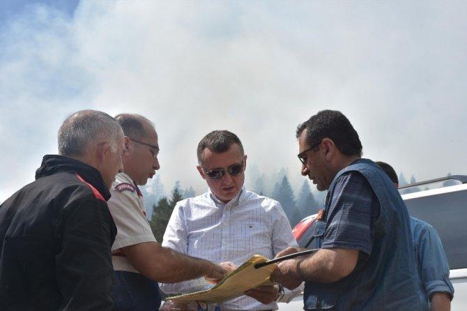 Bozüyük'te orman yangını 4'üncü gününde de söndürülemedi