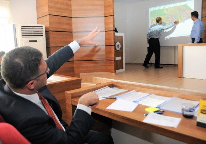 Kaymakam Balcı, projeler hakkında brifing aldı