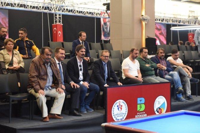 Başkan Uğur, Türkiye Bilardo Şampiyonasına konuk oldu