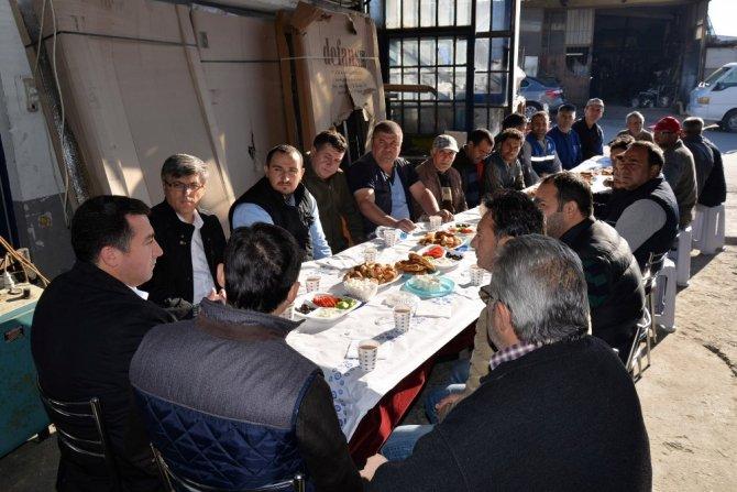 Başkan Bakıcı sanayi esnafı ile kahvaltıda buluştu