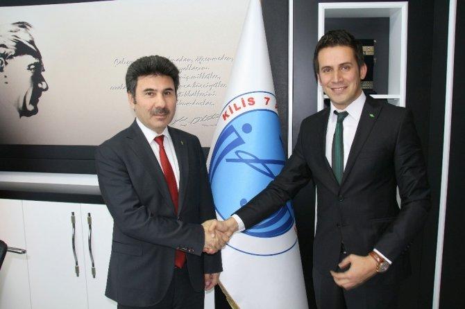 Rektör Karacoşkun TEMA İl Temsilcisi Ahmet Özcan'ı kabul etti