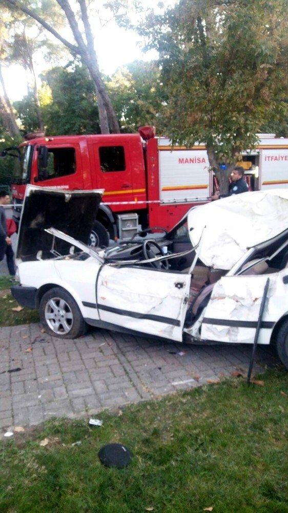 Otomobil takla atıp ağaca çarptı: 1 yaralı