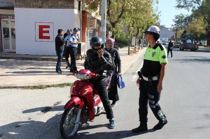 Polis ekipleri motosikletlere yönelik uygulama yaptı