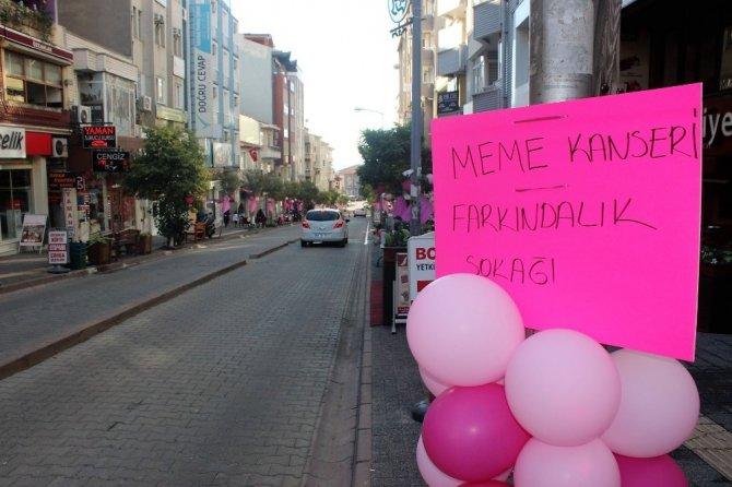 Cumhurbaşkanının yakından ilgilendiği Göknur, caddeyi pembeyle süsledi