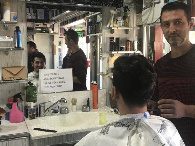 Bu berberde Amerikan tıraşı yasak
