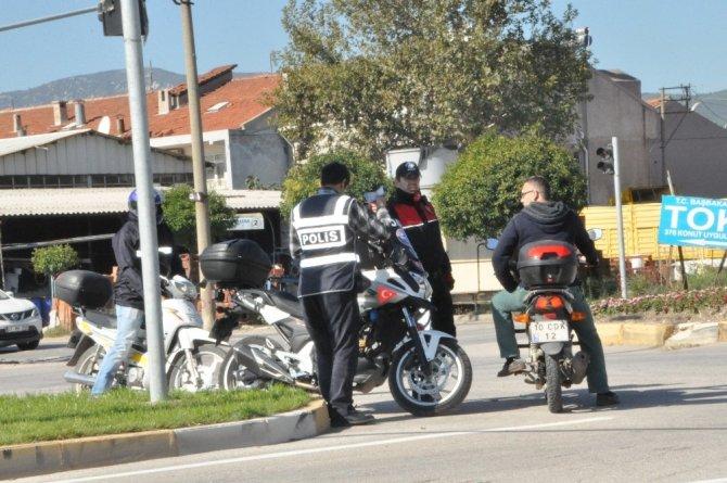 Gönen Emniyeti'nden motosiklet denetimi