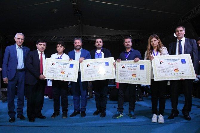 Şanlıurfa bilim şenliğinde dereceye girenlere ödül verildi