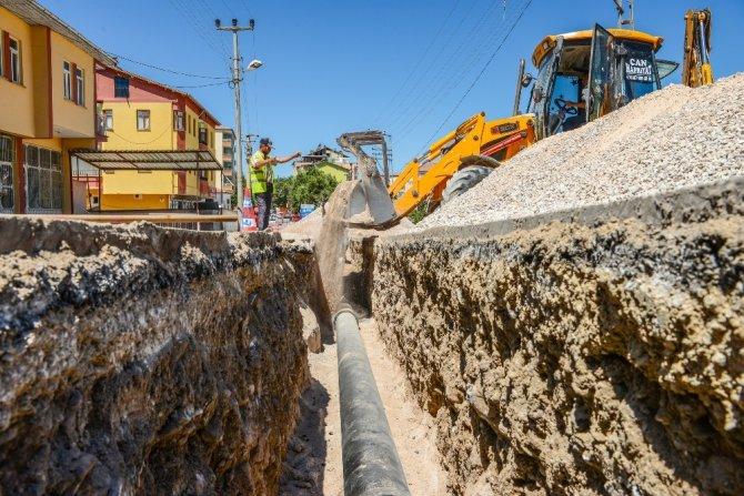 MASKİ, Eski Malatya'daki altyapı çalışmalarını sürdürüyor